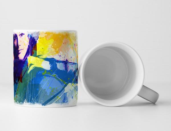 Chello Spielerin Tasse als Geschenk, Design Sinus Art