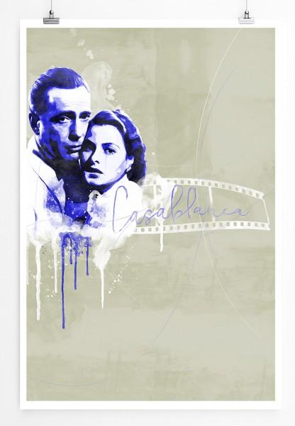 Casablanca 90x60cm Paul Sinus Art Splash Art Wandbild als Poster ohne Rahmen gerollt
