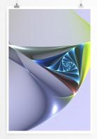 60x90cm Digitale Grafik Poster Formen und Stufen