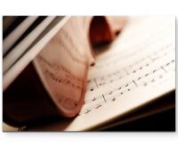 Fotografie – Violine auf einem Notenblatt - Leinwandbild