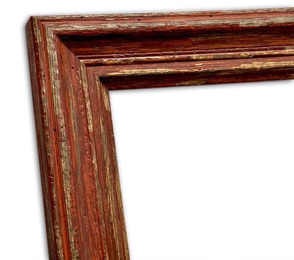 shabby chic echtholzrahmen rot braun natur in vintageoptik sinus art einzigartige designs. Black Bedroom Furniture Sets. Home Design Ideas