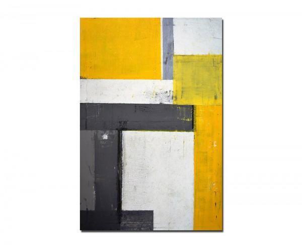 120x60cm Kunstmalerei Farben gelb/grau abstrakt
