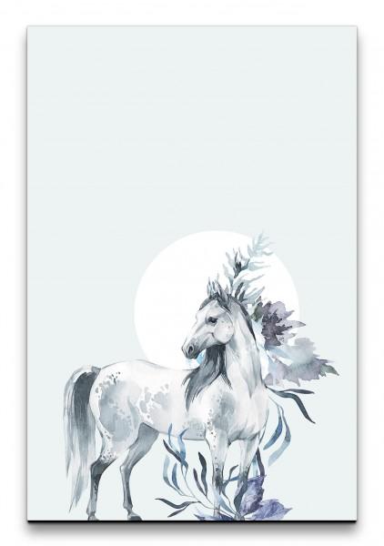 Pferd Märchenhaft Wasserfarben Mond Aquarell Feminin Dekorativ Schön