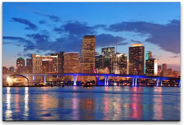 Miami Skyline Wandbild in verschiedenen Größen