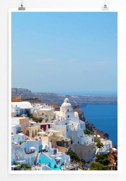 Landschaftsfotografie 60x90cm Poster  Santorini Griechenland