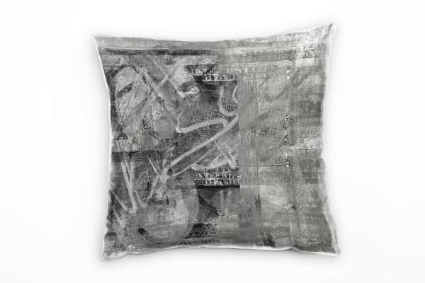 Couch Sofa Lounge Zierkissen in 40x40cm US Dollar Grau