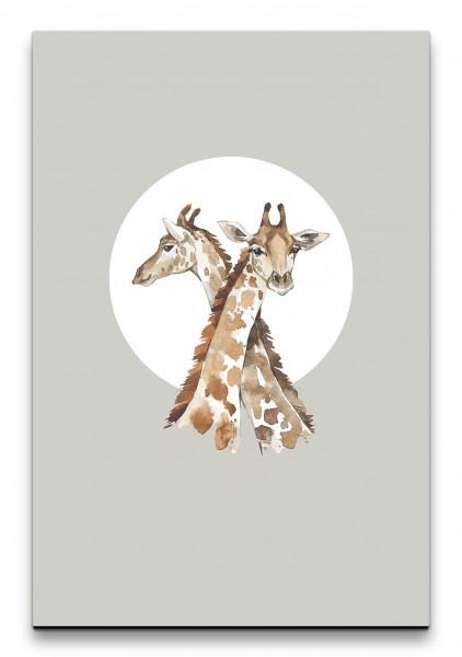 Giraffen Afrika Wasserfarben Aquarell Modern Dekorativ Minimalistisch