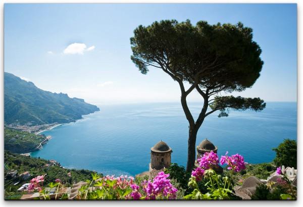 italienische Küste Wandbild in verschiedenen Größen