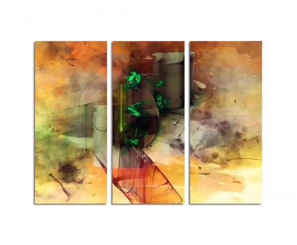 130x90cm Wandbild Abstrakt196 -3x90x40cm
