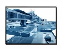 105x75cm Leinwandbild Petrol Nahaufnahme UV Inkjet Drucker