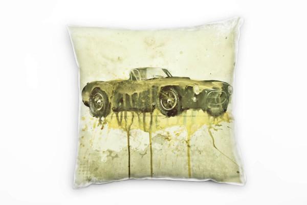 AC Cobra Deko Kissen Bezug 40x40cm für Couch Sofa Lounge Zierkissen