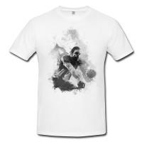 Volleyball II Herren und Damen T-Shirt BLACK-WHITE
