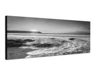 150x50cm Cornwall Strand Meer Sonnenuntergang