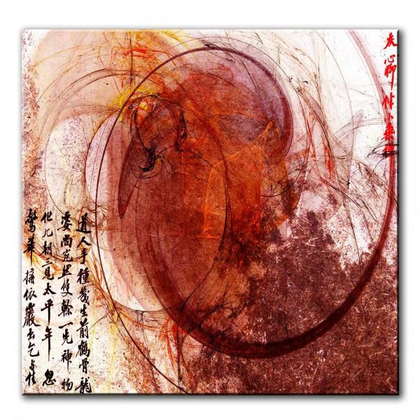 Rote Energie, abstrakt, 60x60cm