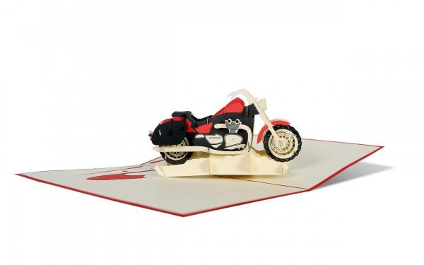 Motorrad Grußkarte Größe: 12x18cm