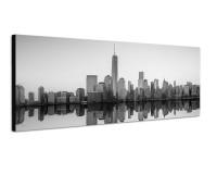 150x50cm Manhattan Skyline Wasser Morgenlicht