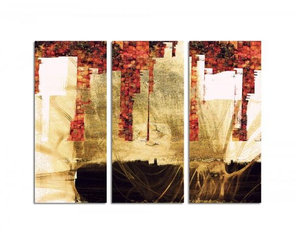 130x90cm Wandbild Abstrakt170 -3x90x40cm