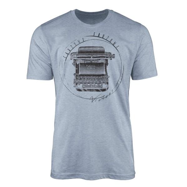 Vintage Herren T-Shirt Schreibmaschine
