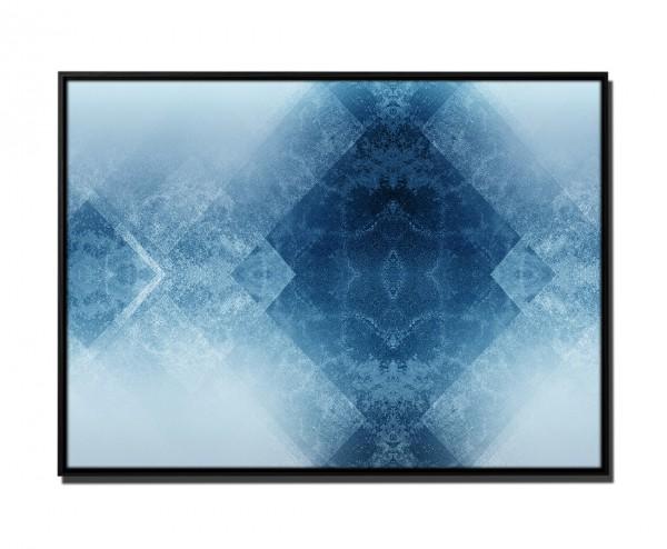 105x75cm Leinwandbild Petrol Abstrakt Grafisch Geometrisch Quadrat