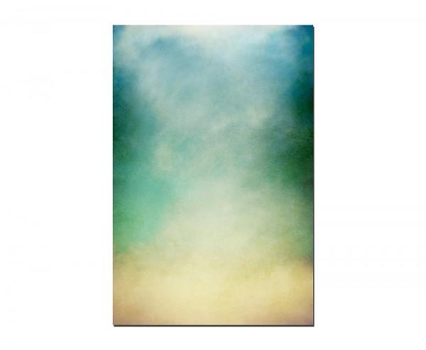120x80cm Nebel Wolken verschleiert grün blau gelb