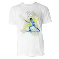 Fechten Mann  Sinus Art ® T-Shirt Crewneck Tee with Frontartwork