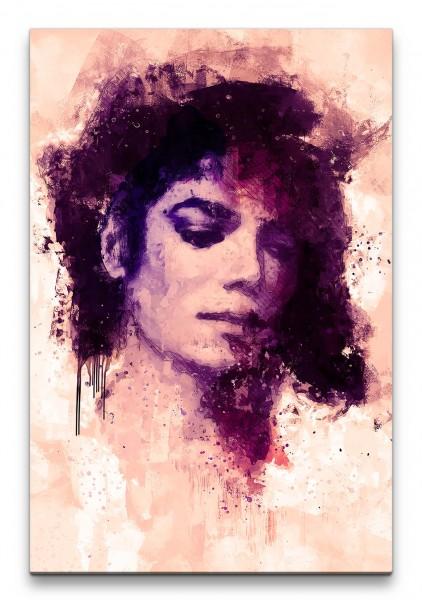 Michael Jackson Porträt Abstrakt Kunst King of Pop Musikikone 60x90cm Leinwandbild