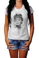 Audrey Hepburn I-2 Herren und Damen T-Shirt BLACK-WHITE