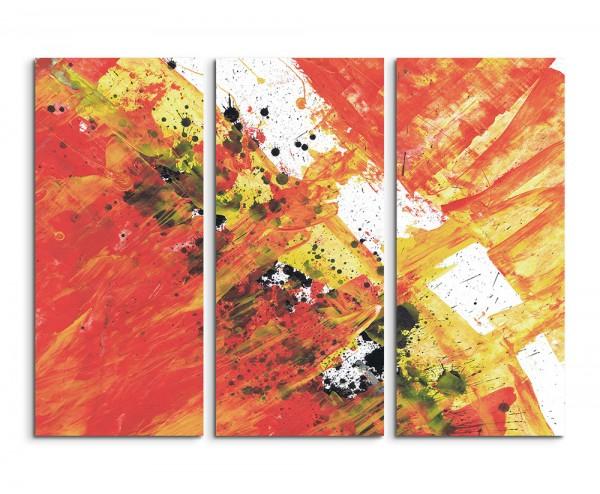 130x90cm Wandbild Abstrakt 513 -3x90x40cm