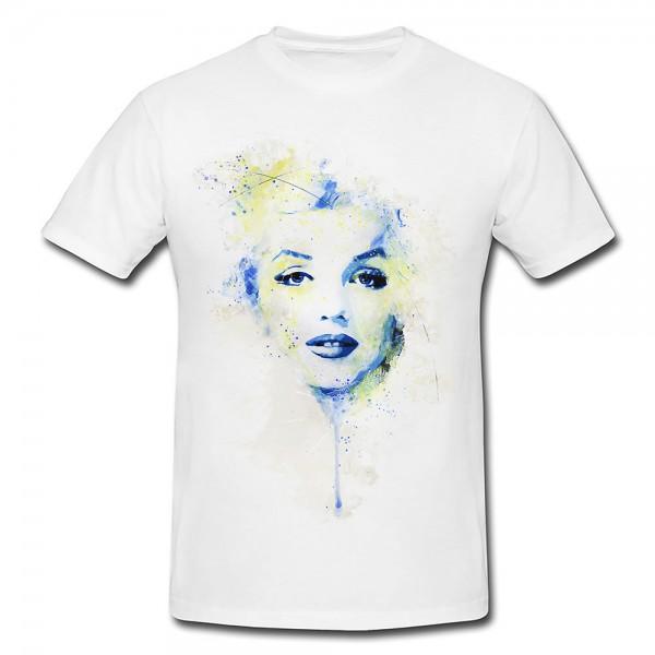 Marilyn Monroe II Premium Herren und Damen T-Shirt Motiv aus Paul Sinus Aquarell