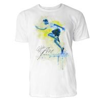 Sprinter seitlich Sinus Art ® T-Shirt Crewneck Tee with Frontartwork