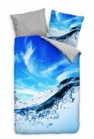 Wasserblasen Himmel Blau Bettwäsche Set 135x200 cm + 80x80cm  Atmungsaktiv