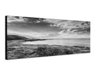 150x50cm Küste Felsen Meer Wolken