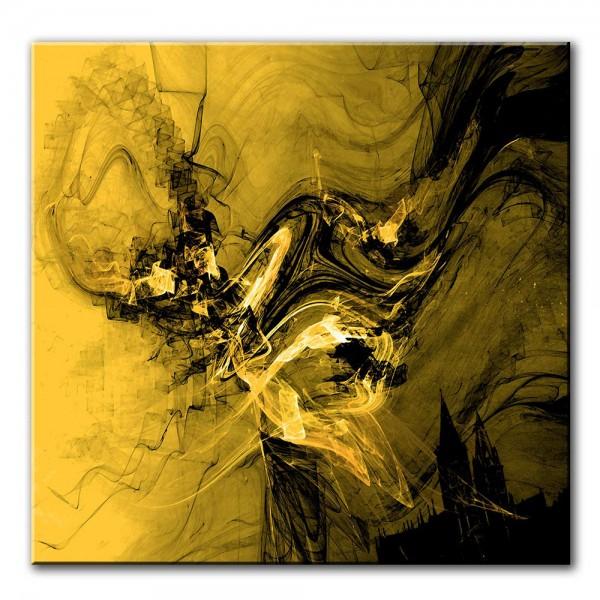 Goldene Dämonen, abstrakt, 60x60cm