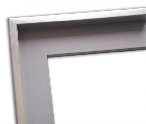 Echtholz Schattenfugenrahmen in grau mit dezenter Silberkante