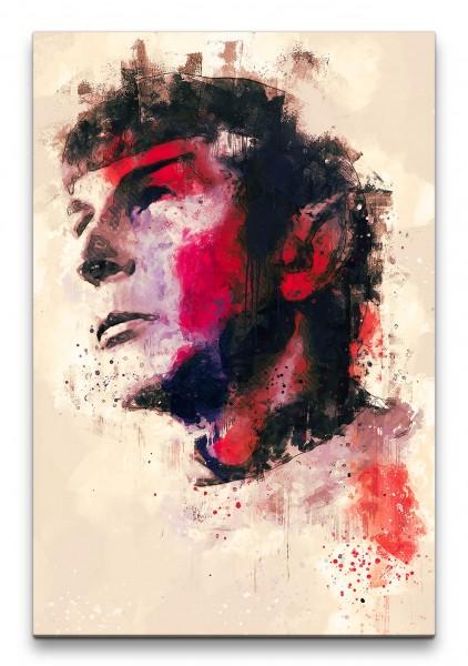 Commander Spock Star Trek Porträt Abstrakt Kunst Kult 60x90cm Leinwandbild