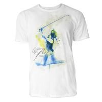 Golfer beim Anschlag Sinus Art ® T-Shirt Crewneck Tee with Frontartwork