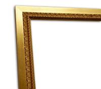 Exklusiver Echtholzrahmen in gold klassisch elegant