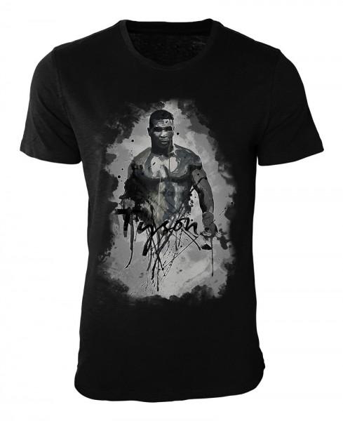 Mike Tyson-II Damen und Herren T-Shirt schwarz / black