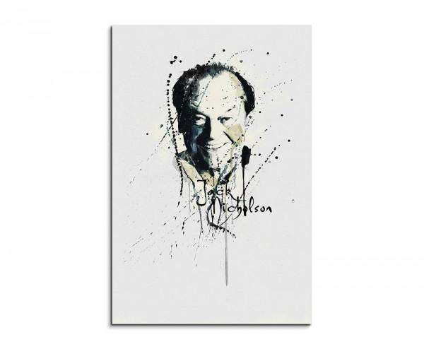 Jack Nicholson 90x60cm Keilrahmenbild Kunstbild  Aquarell Art Wandbild auf Leinwand fertig gerahmt O