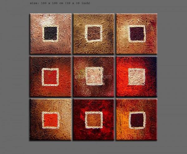 celeste 2 - abstraktes 9 teiliges Wandgemälde