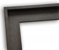 Echtholz Schattenfugenrahmen klassisch schlicht in grau-braun