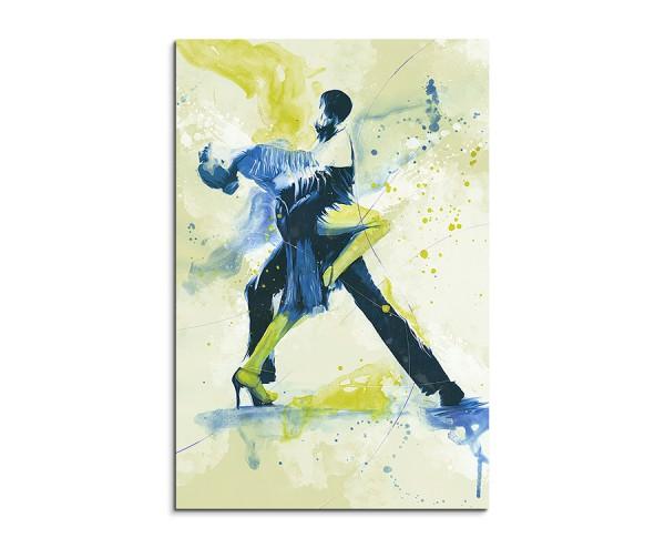 Tanzpaar I 90x60cm SPORTBILDER Paul Sinus Art Splash Art Wandbild Aquarell Art