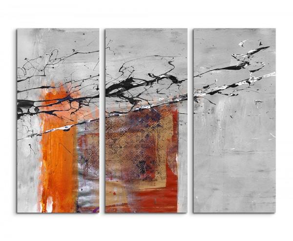 130x90cm Wandbild Abstrakt 505 -3x90x40cm