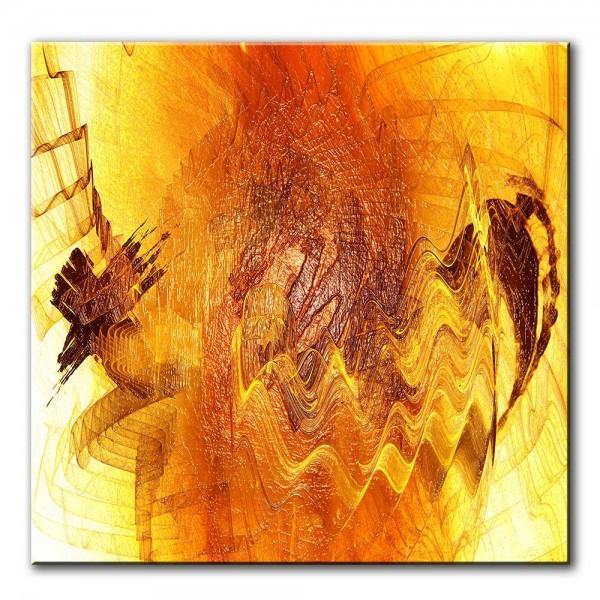 Lebensmitte, abstrakt, 60x60cm