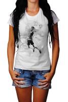 Badminton Herren und Damen T-Shirt BLACK-WHITE