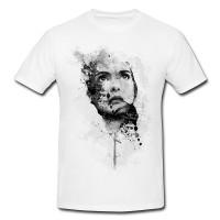 Winona Ryder II Herren und Damen T-Shirt BLACK-WHITE