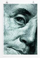 60x90cm Künstlerische Fotografie Poster Benjamin Franklin auf dem 100 Dollar Schein