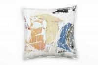 Couch Sofa Lounge Zierkissen in 40x40cm Weiß Fernblau Pastellgelb Grau