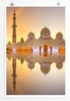 60x90cm Poster Architektur Fotografie Sheikh Zayed Große Moschee in Abu Dhabi