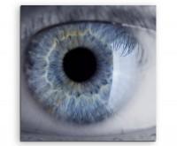 Künstlerische Fotografie – Menschliches Auge auf Leinwand exklusives Wandbild moderne Fotografie für